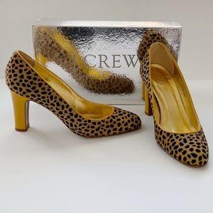 J. Crew Collection Calf-hair Cheetah Leopard Heels